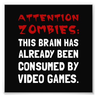 Videojuegos de los zombis de la atención fotografía