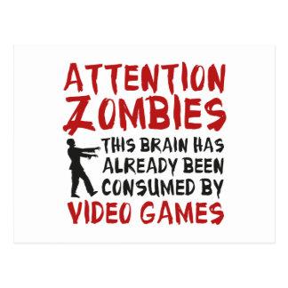 Videojuegos de los zombis de la atención postal
