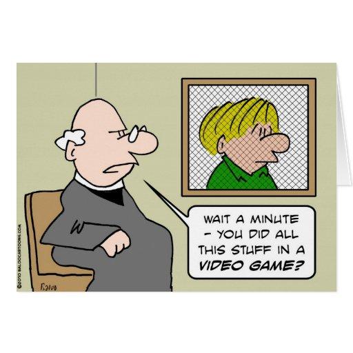 videojuegos del confesonario del sacerdote tarjeta de felicitación