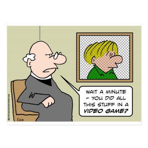 videojuegos del confesonario del sacerdote postales