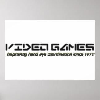 Videojuegos: Mejora de la coordinación del ojo de Póster