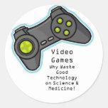 videojuegos pegatina redonda