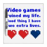 videojuegos tableros blancos