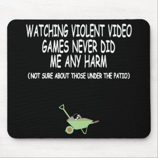 Videojuegos violentos divertidos tapetes de ratón
