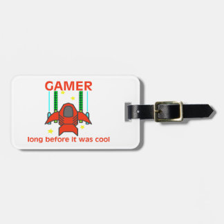 Videojugador antes de que fuera estilo retro fresc etiquetas de maletas
