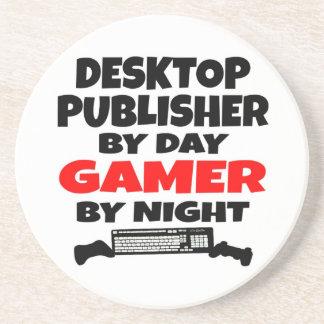 Videojugador de escritorio del editor posavasos diseño