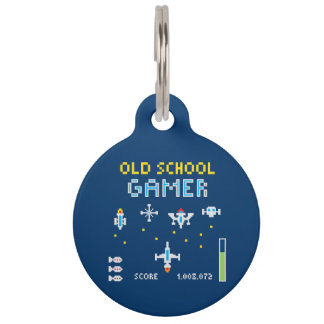 Videojugador de la escuela vieja - Stellarship - Placa Para Mascotas