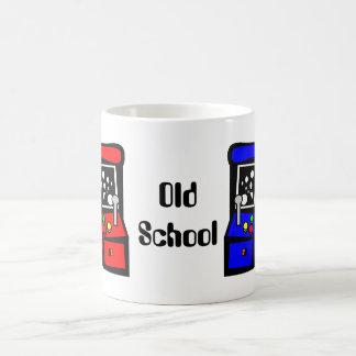 Videojugador de la escuela vieja tazas