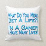 Videojugador de muchas vidas cojin