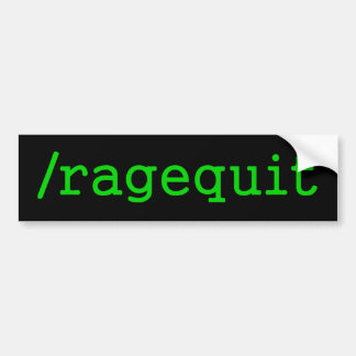 Videojugador de Ragequit Pegatina Para Auto