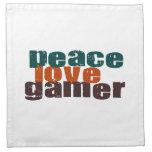 Videojugador del amor de la paz servilleta