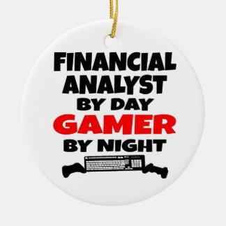 Videojugador del analista financiero ornamentos de reyes