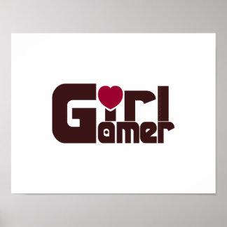 Videojugador del chica póster