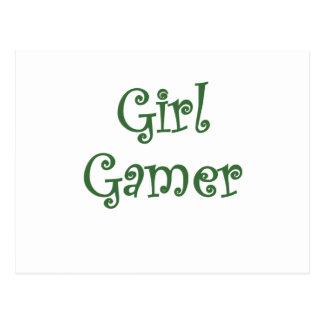 Videojugador del chica postales