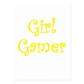 Videojugador del chica tarjetas postales