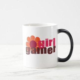 Videojugador del chica taza mágica