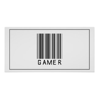 Videojugador del código de barras póster