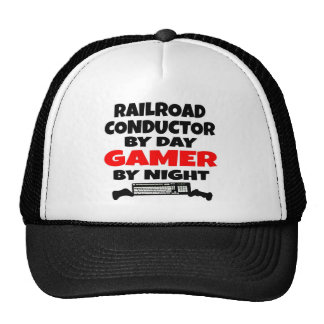 Videojugador del conductor del ferrocarril gorros bordados