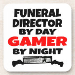 Videojugador del director de funeraria posavasos de bebida