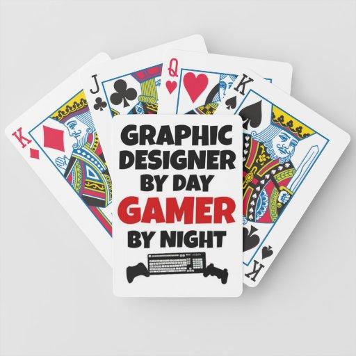 Videojugador del diseñador gráfico cartas de juego