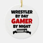 Videojugador del luchador adorno