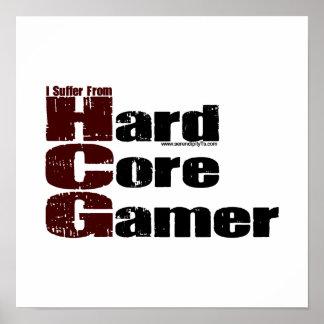 Videojugador del núcleo duro póster