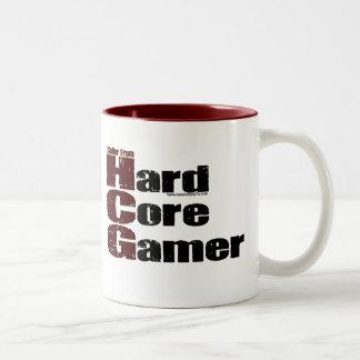 Videojugador del núcleo duro taza de dos tonos