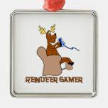 Videojugador del reno de lujo ornamentos para reyes magos
