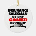 Videojugador del vendedor de seguro ornamento para reyes magos