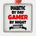 Videojugador diabético ornamentos de reyes magos