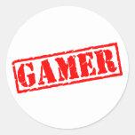 Videojugador Etiquetas Redondas
