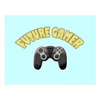 Videojugador futuro - amarillo y regulador postales