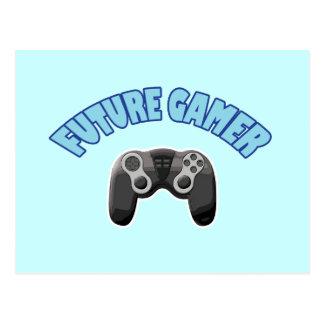 Videojugador futuro - azul y regulador postal