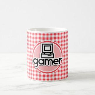 Videojugador; Guinga roja y blanca Tazas De Café