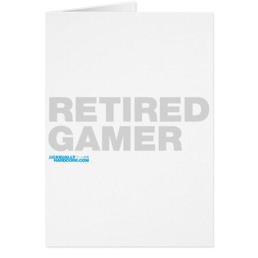 Videojugador jubilado tarjeta