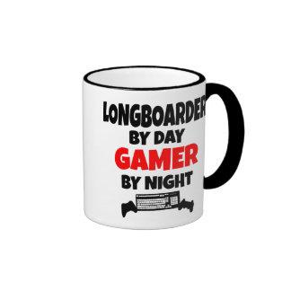 Videojugador Longboarder Taza De Dos Colores