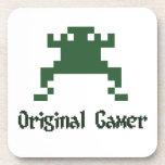 Videojugador original de la escuela vieja posavasos
