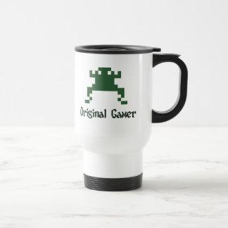 Videojugador original de la escuela vieja tazas de café