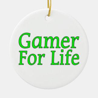 Videojugador para la vida ornamento para arbol de navidad