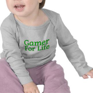 Videojugador para la vida camisetas