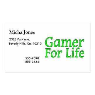 Videojugador para la vida tarjetas de visita