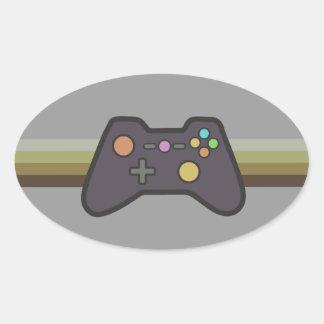 Videojugador Pegatina De Ovaladas