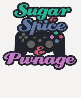 Videojugador Pwnage del chica Camiseta