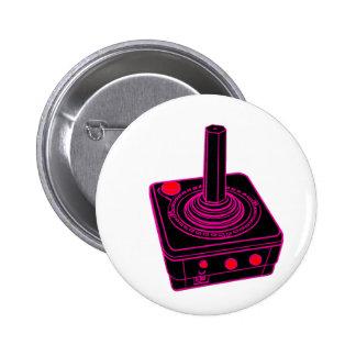 Videojugador retro de la palanca de mando pin