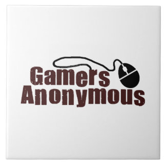 Videojugadores anónimos azulejo cuadrado grande
