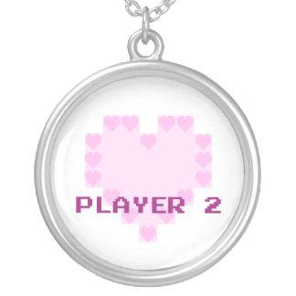 Videojugadores en amor - jugador 2 colgantes