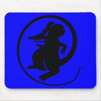 Videojugadores negros y ratón azul Mousepad de la
