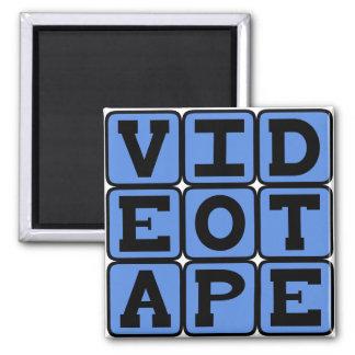 Videotape, VHS Tape Fridge Magnet