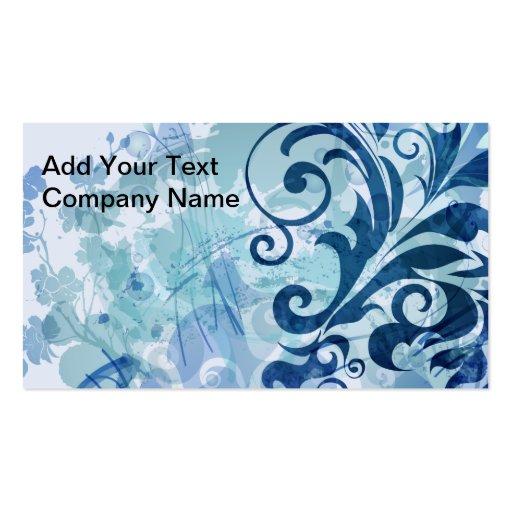 Vides azules elegantes tarjeta personal