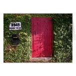 Vides con la puerta roja felicitacion